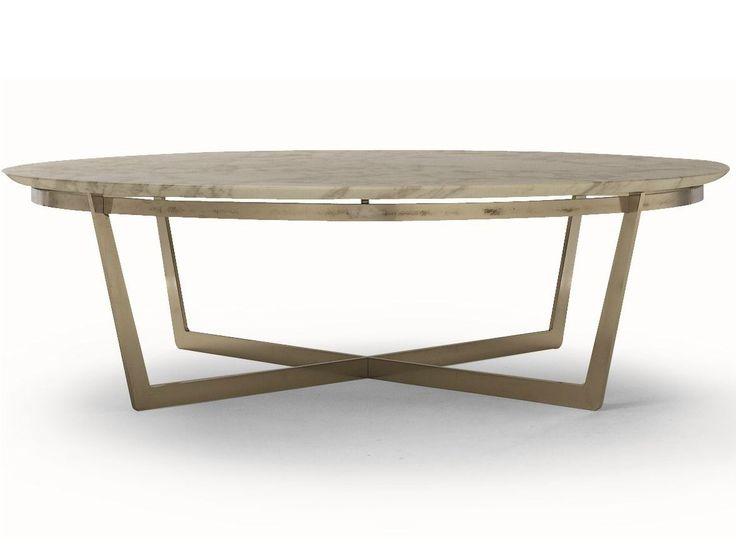 Tavolino rotondo con piano in marmo VITO by FLEXFORM