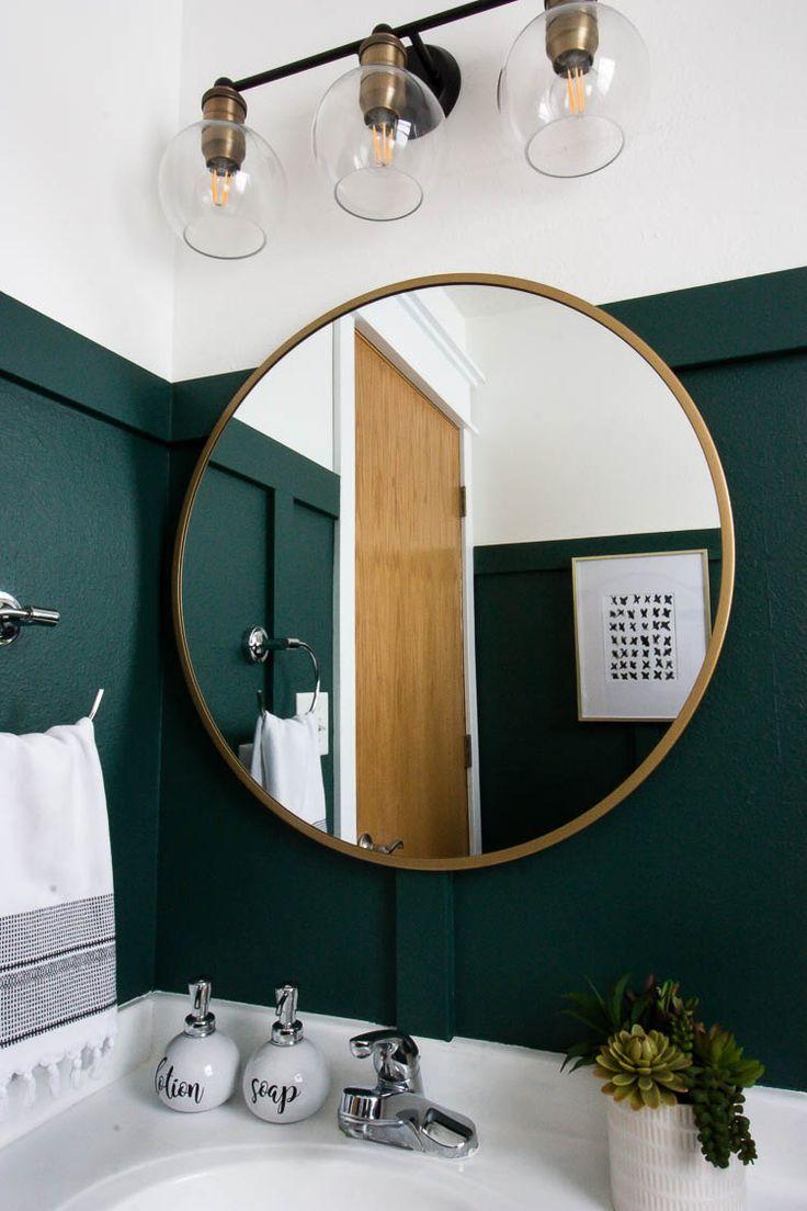 Modern Green Bathroom Makeover En 2020 Diseno De Banos Modernos