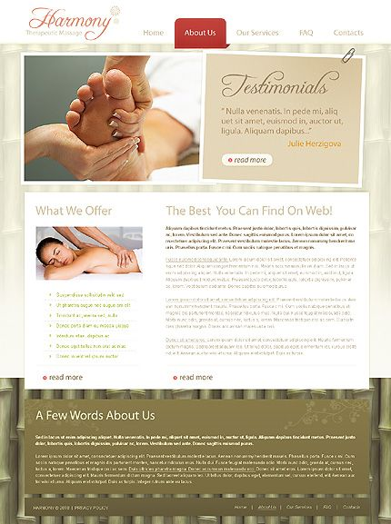 Harmony Therapeutic Website Templates by Delta