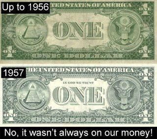 """""""In God We Trust"""" was not on our money until 1957."""