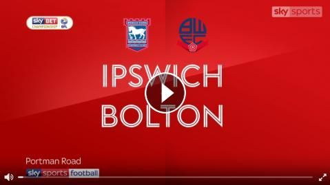 Video: Ipswich Town 2 - 0 Bolton Wanderers Highlights and Match Recap Online - 16 September 2017 - Sky Bet Championship - FootballVideoHighlights.com....