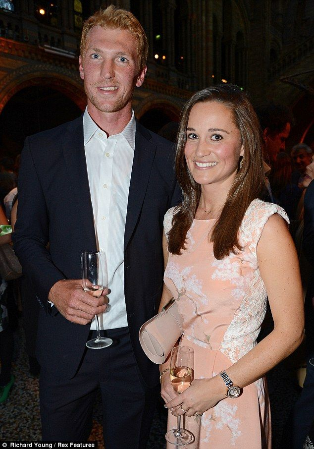 Olympic spirit: Pippa worked the room like a true professional, stopping to chat to rowing gold medallist Alex Gregory at one point