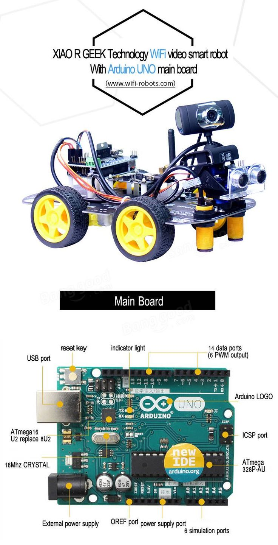 Xiao R DIY Smart Robot Wifi Video Control Car with Camera