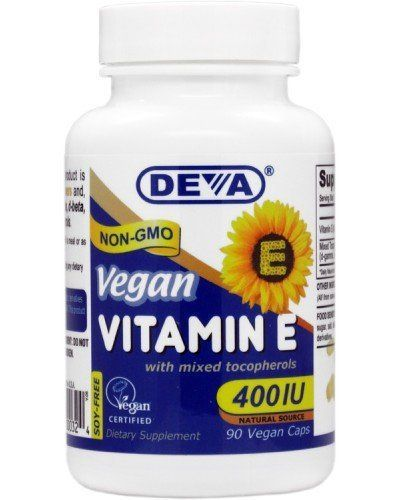 Deva Vegan Vitamins Natural Vitamin E 400iu with Mixed Tocopherols, 90-Count //Price: $17.33 & FREE Shipping // #hashtag2 #vitaminA #F4F #vitamins #vitaminC