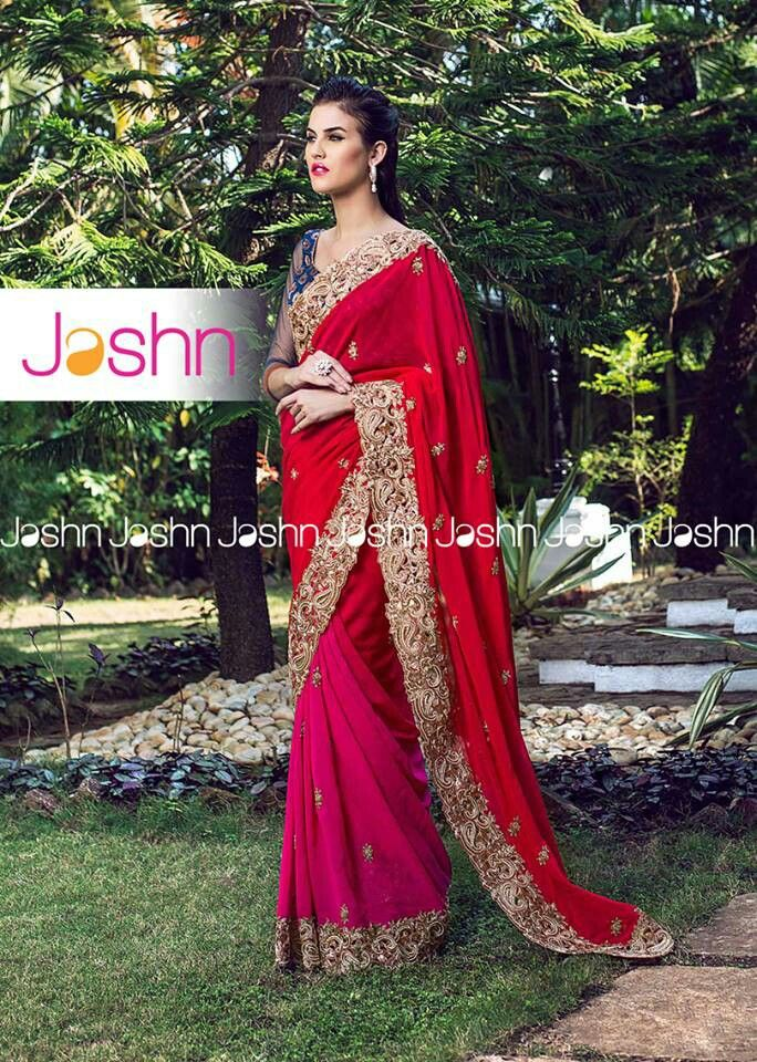 #Jashn #Saree #shaded #antique #cutwork #embroidery #everythingsummer #wedding