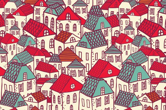 Vector city seamless pattern. ~ Patterns on Creative Market