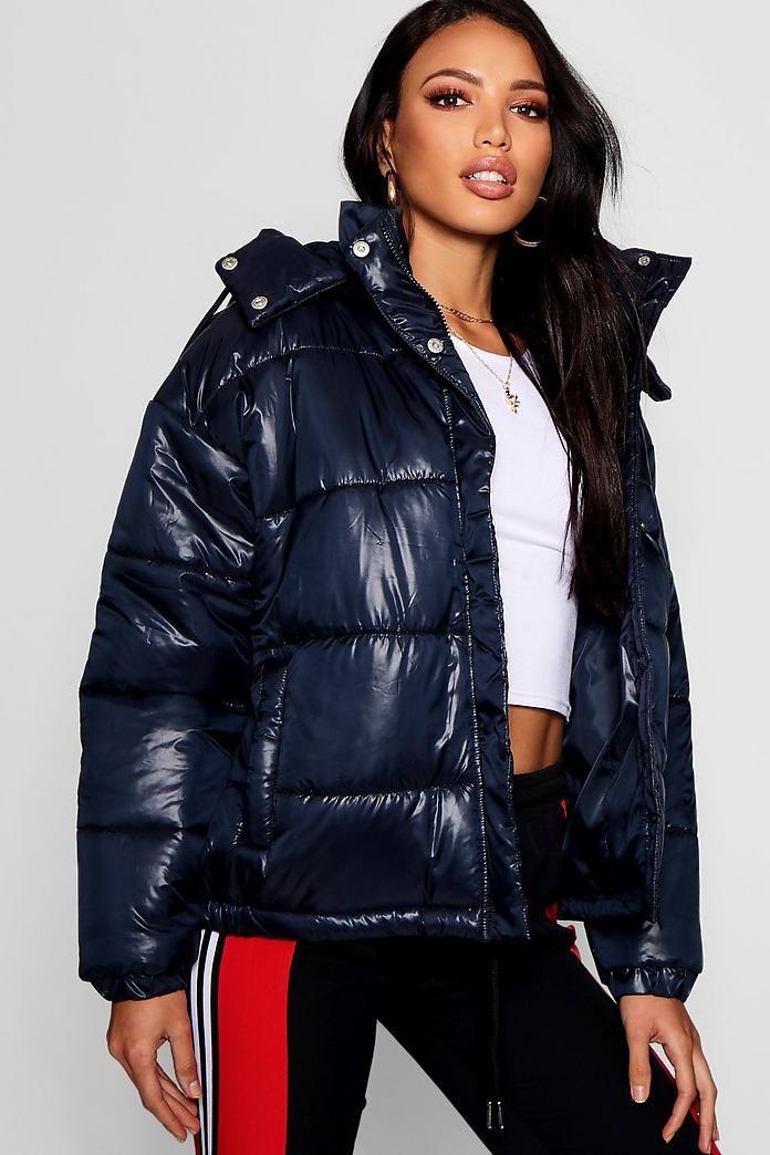 Hooded Cire Puffer Jacket | boohoo | Jackets, Puffer jackets