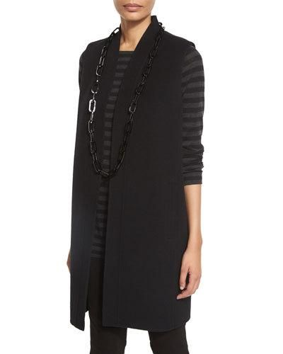Eileen+Fisher+Brushed+Wool+Double+Face+Vest+Black+|+Clothing
