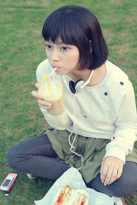 Japanese girls with headphones #girls #asian #headphone #japanese