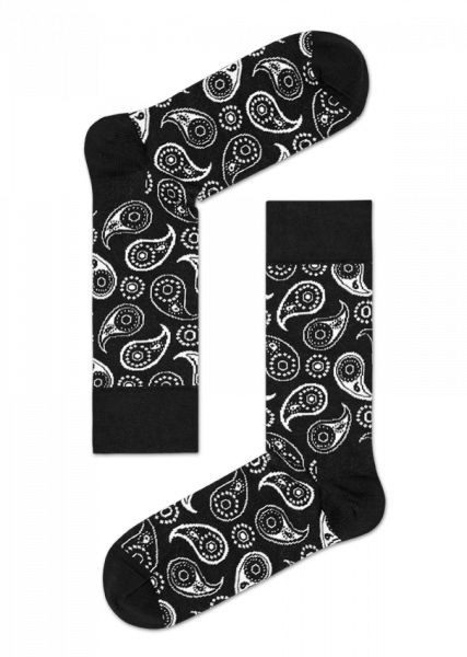 Classic, classy, comfortable: Paisley socks boast big, bold patterns and vivid, brilliant color for a happy day. Soft, combed cotton was knitted together to create these classically patterned, extremely comfortable black and white socks. Add a pair to your ensemble today for style and comfort that will last and last. Conveniently offered in sizes for men and women.
