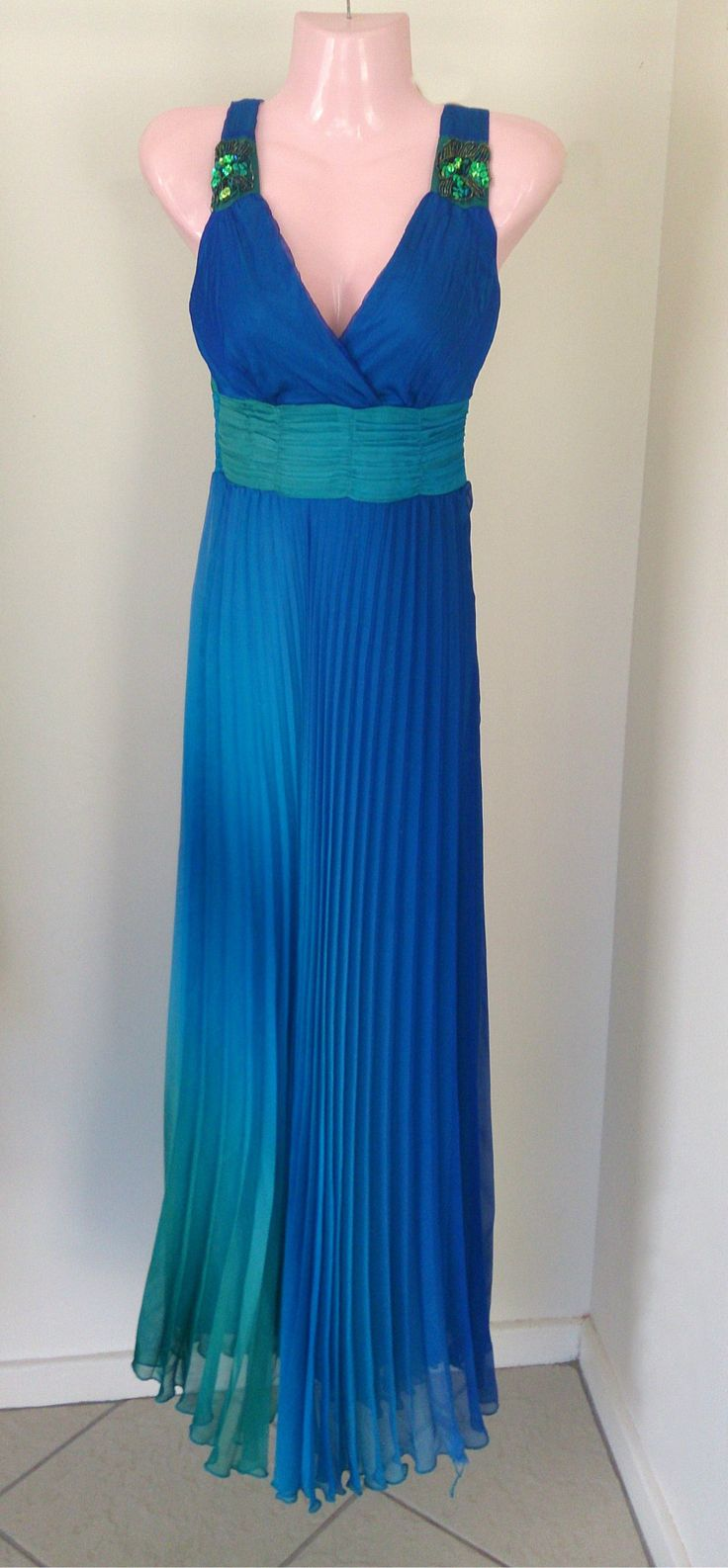 The Ocean blue dress. Available in size: 32