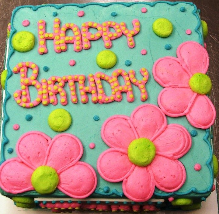 pink flower birthday cakes yummy