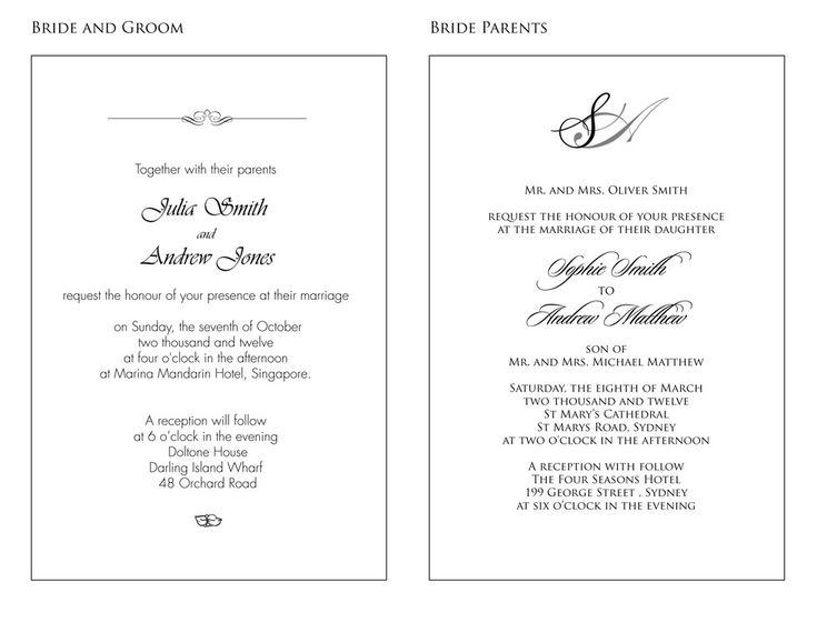 Wedding Invitations Wording Sample 1 Philippine Wedding