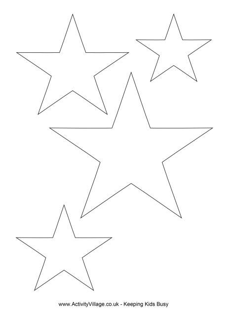 Star Templates In Different Sizes. Great For Art And Craft Projects.
