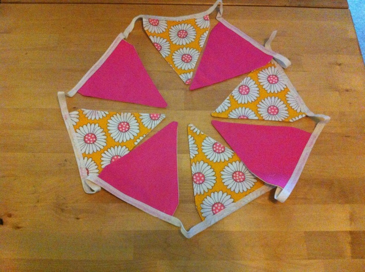 handmade bunting in fabric of your choice