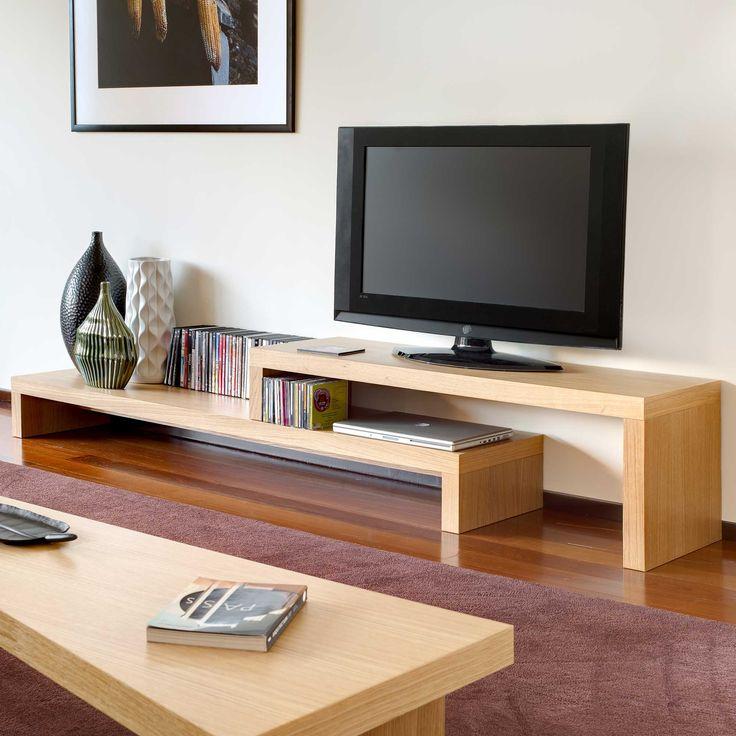 Meuble TV 2 niveaux CLIFF