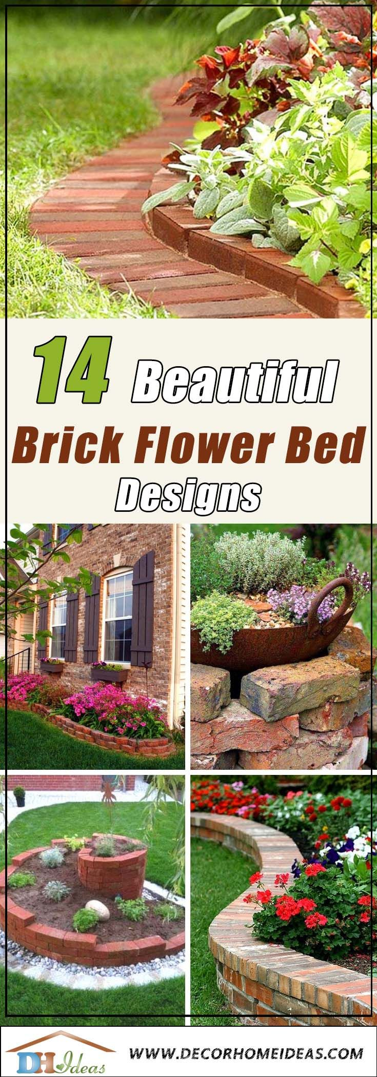 14 Brick Flower Bed Design Ideas You Can Replicate Instantly Decor Home Ideas Brick Flower Bed Flower Bed Designs Flower Beds Backyard flower bed design ideas