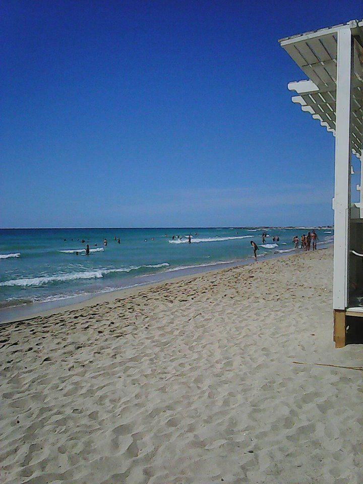 Sabbia bianca spiaggia di Lido Marini - Salento