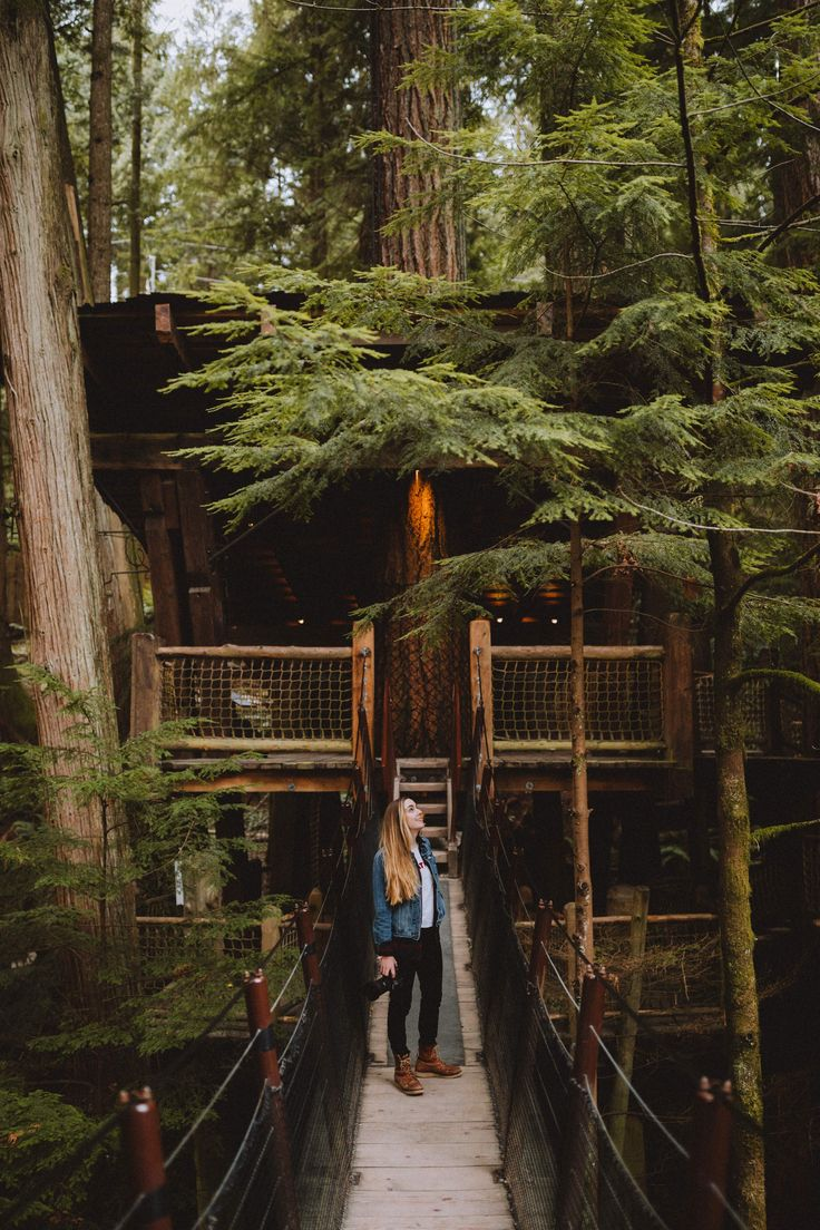 Discover the adventure you can have at Capilano Suspension Bridge Park in Vancouver, Canada. We're sharing what to expect, things to do, and the best times to visit this booming British Columbia outdoor attraction! #PNW #Canada #CapilanoSuspensionBridge #BritishColumbia #Vancouver #PacificNorthwest