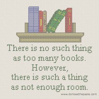 Book Quote cross stitch pattern