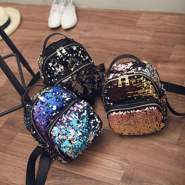 2016 New Arrival Women All match Bag PU Leather Sequins Backpack Girls Small Travel Princess Bling Backpacks ZD215-in Backpacks from Luggage & Bags on Aliexpress.com | Alibaba Group