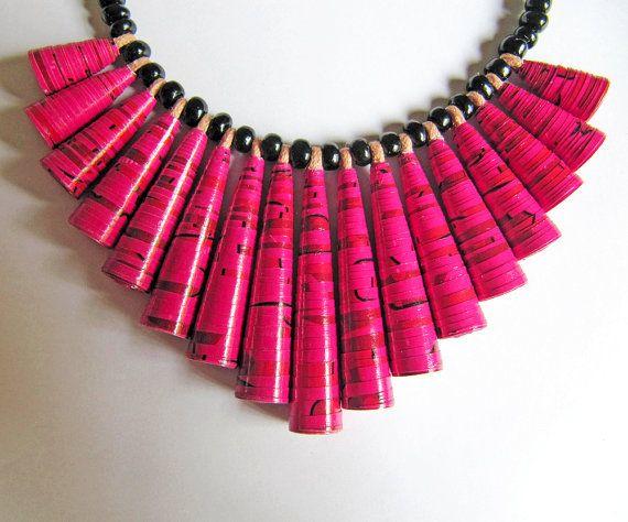 Barbabietola rossa rosa collana gioielli collana rosa