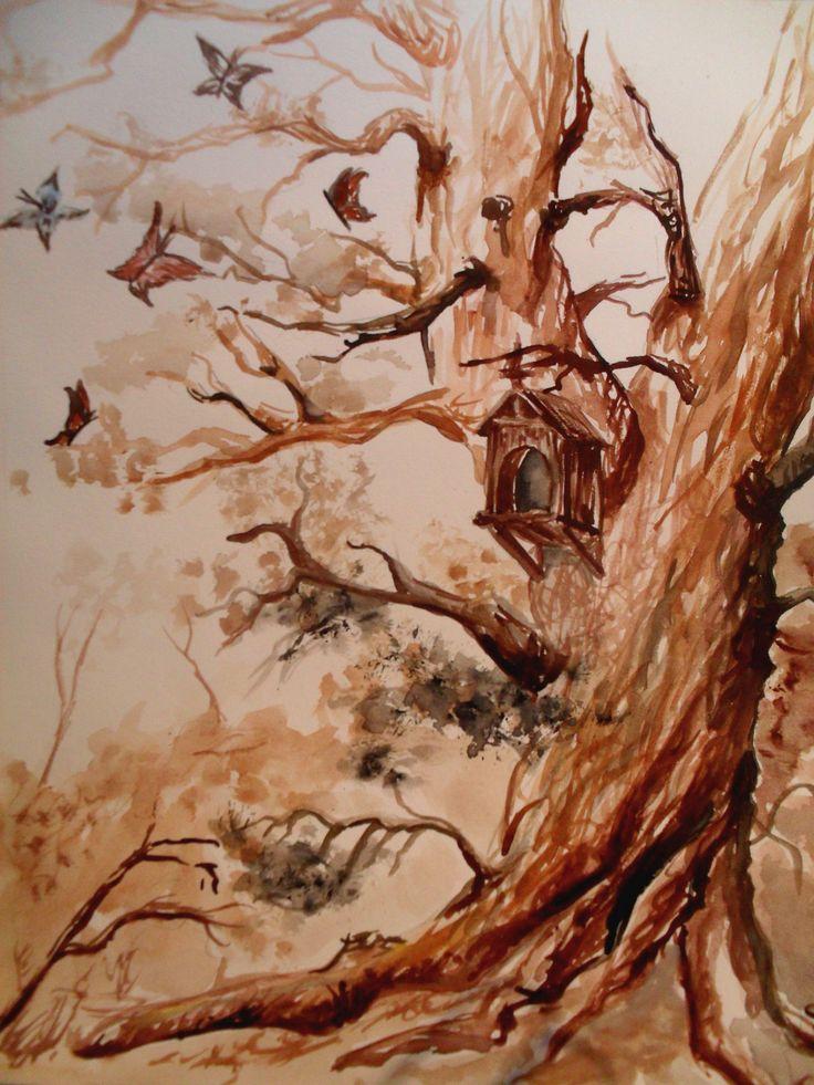 Albero in acquerello
