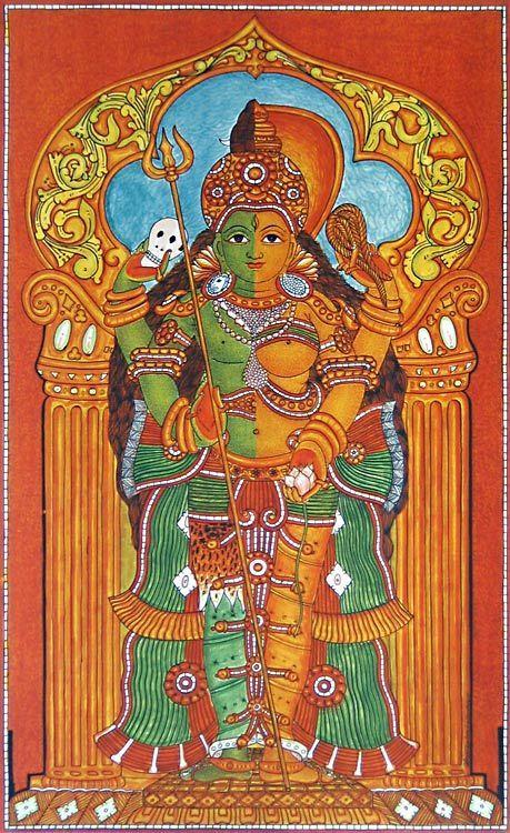 Ardhanarishwar - Shiva Shakti (Reprint on Paper - Unframed)