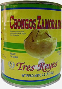 Chongos Zamoranos  Chongos Zamoranos is a typical Mexican desserts. One of the most popular in Mexican gastronomy.   They are named as such as the city where they were invented Zamora in the Mexican state of Michoacan.