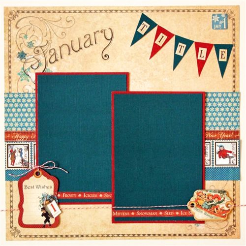 Graphic 45 Place in Time January Layout by Robin Shakoor! #graphic45