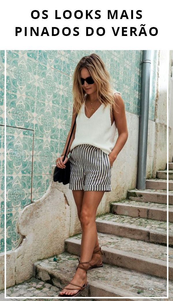 Os looks mais pinados do Verão | Looks, Looks estilosos e
