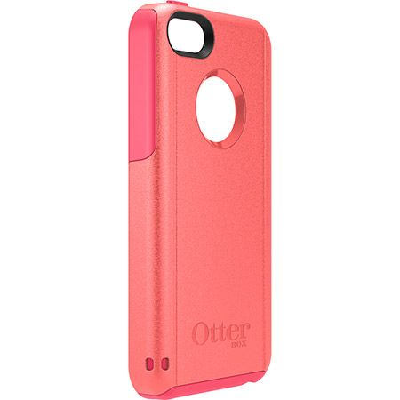 Custom iPhone 5c cases   OtterBox Commuter Series - outer candy pink, inner blaze pink