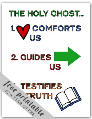 The Holy Ghost jobs chart. FREE via A YEAR OF FHE.