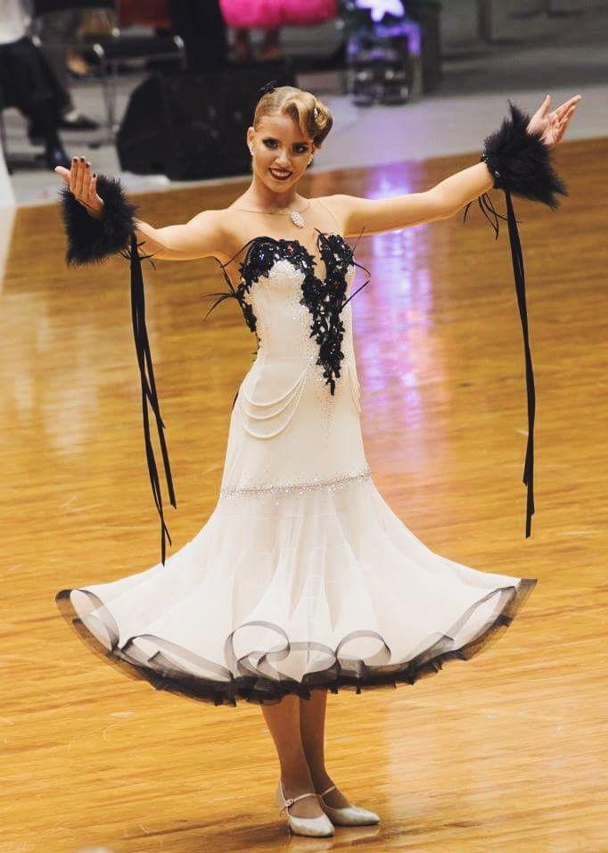 Elegant white ballroom dress