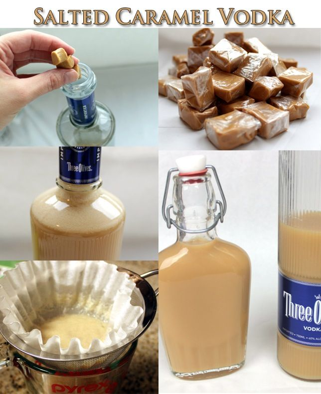 Salted Caramel Vodka Tutorial for my friends and family members that drink,  me I just eat the caramel.