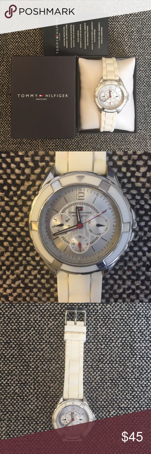 Tommy Hilfiger Watch Stylish watch comes with product detail booklet. Battery has been replaced. Watch is in very good condition and has been used few times. Tommy Hilfiger Accessories Watches