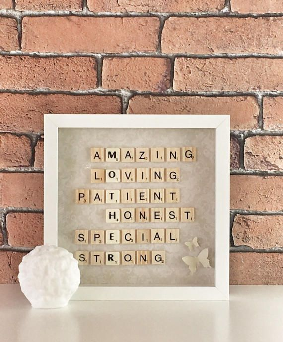 Mothers day framemothers day giftScrabble frame birthday