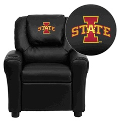 Iowa State Cyclones NCAA Embroidered Black Vinyl Kids Recliner #WildWingCafe