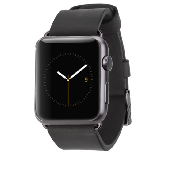 Apple Watch 42mm Black Signature Leather Apple Watch Band l Case-mate  #casemate #apple #applewatch
