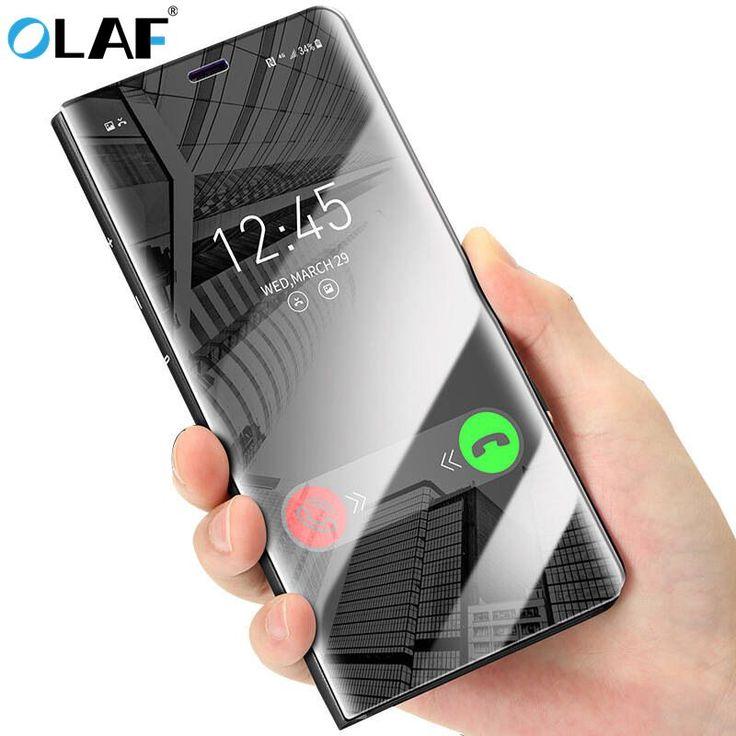 Oferta caliente Olaf Mirror Flip Funda de Cuero Para el iphone Cajas Del Teléfono X Clear View ventana de Smart Cover Para el iphone 6 6 s Más 7 8 Función De Titular ..... Haga clic en el enlace para verificar el precio