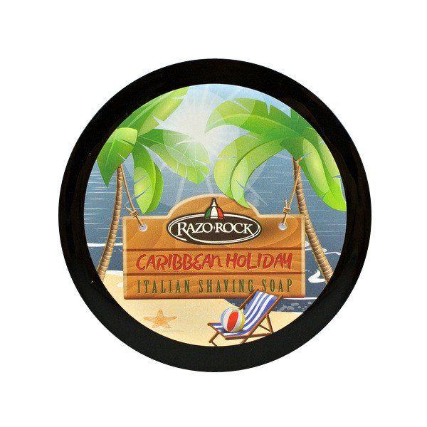Uno dei best seller di RazoRock dal rapporto qualità-prezzo senza paragoni. Caribbean Holiday è tutto un programma già dalla denominazione scelta dal brand canadese: un buon pennello da barba inumidito e la ricca schiuma che verrà prodotta nella ciotola vi porterà con la sua inconfondibile fragranza in un bar da spiaggia caraibica: sole, rhum, crema di cocco, ananas e brezza calda! Super formula a base di Burro di Karitè, olio di Argan, Aloe Vera e Lanolina per una rasatura super…