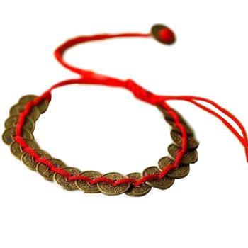 Nieuwe!! groothandel Tibetaanse China Wind Munten Rode draad Katoen Weave Armbanden Vrouwen Gift Handgemaakte Etnische Shambhala Sieraden