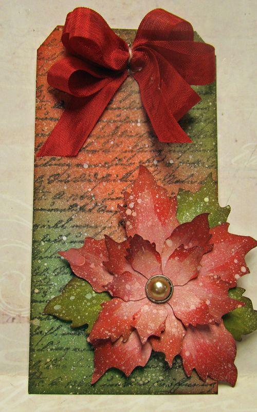 Remember This Remember That: Christmas Poinsettia Tag, Gardner, Kansas