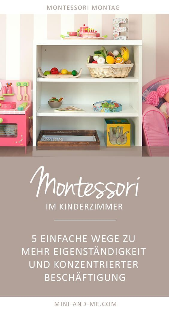 Montessori Basics in the nursery: 5 ways to more autonomy and concentrated employment