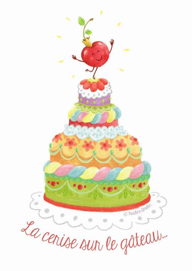 Les illustrations de Popie: La cerise sur le gâteau...