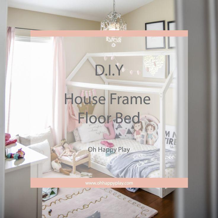 Diy House Frame Floor Bed Plan House Frame Bed Diy Toddler Bed