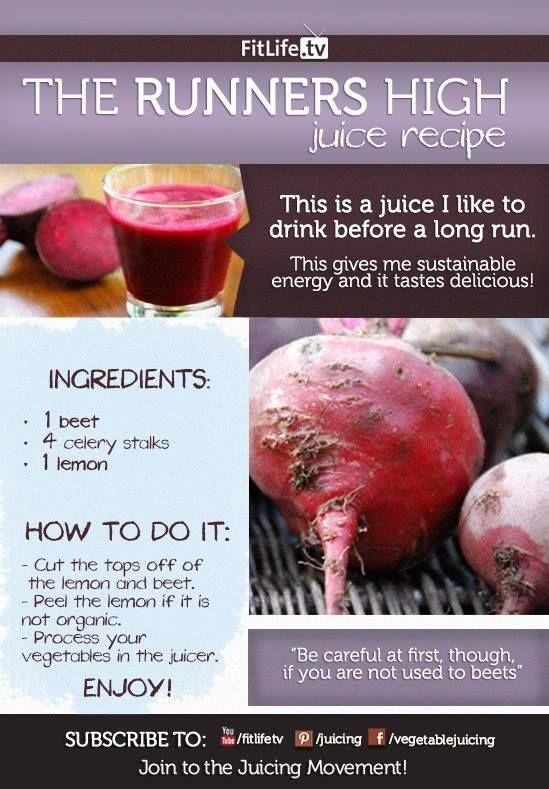 The Runner's High Recipe! #beet #celery #lemon