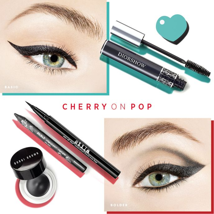 Sephora Glossy / MAKING FACES: THE CHERRY ON POP EYE