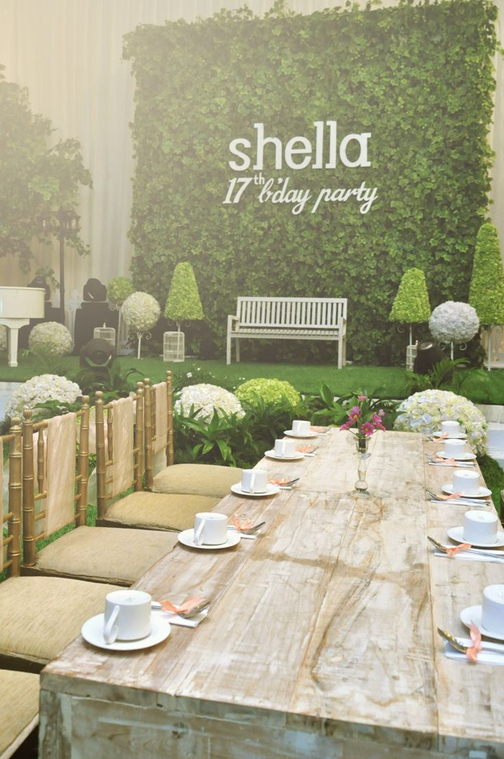 Shella Sweet 17 Party at Gumaya Tower Hotel with Garden theme/ Tea Time theme #gardenparty #teatime #deco #decoration #hotel #party #celebrating