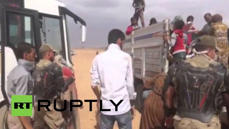 Turkey: Kurdish refugees escape U.S. airstrikes by emergency bus
